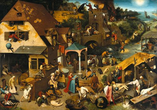 "Pieter Bruegel the Elder, ""The Dutch Proverbs"", 1559"