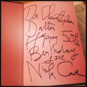 cave book signed
