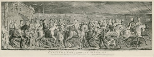 Blake's engraving of Chaucer's Canterbury Tales - metaphors everywhere!